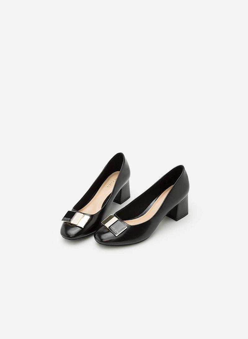 Giày Bít Gót Vuông BMT 0440 - Màu Đen - vascara