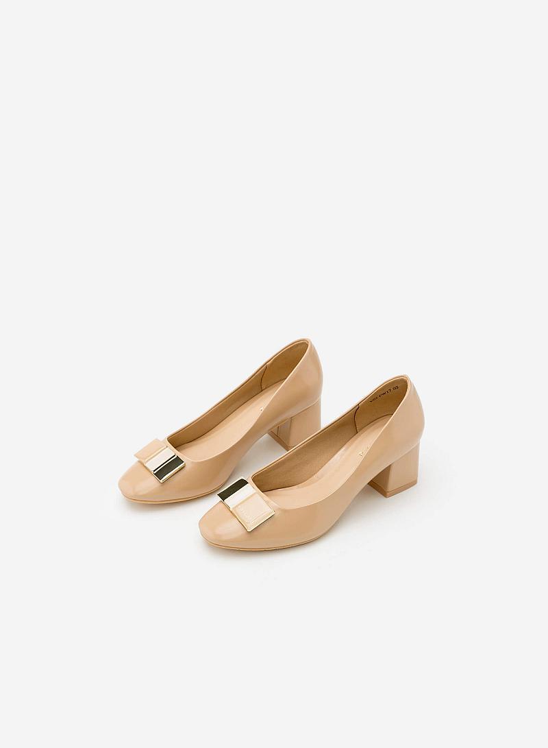 Giày Bít Gót Vuông BMT 0440 - Màu Be - vascara