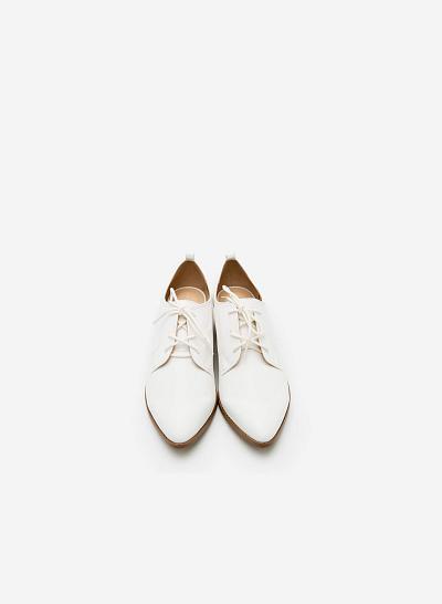 Giày Lười MOI 0089 - Màu Trắng - VASCARA