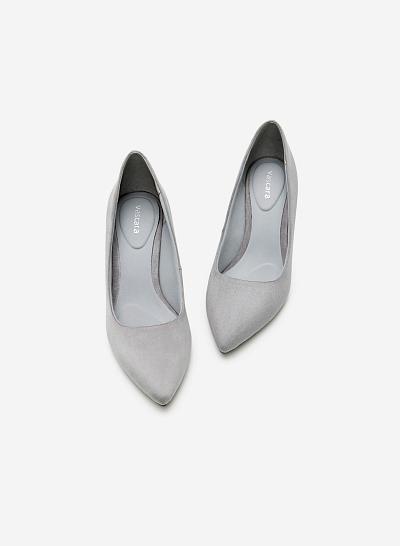 Giày Cao Gót BMN 0247 - Màu Xám - VASCARA