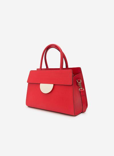 Túi Xách Da Thật SAT 0154 - Màu Đỏ