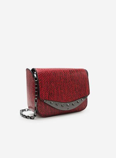 Túi đeo chéo SHO 0087 - Màu Đỏ - vascara.com