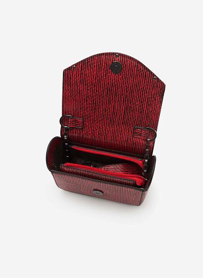 Túi đeo chéo SHO 0087 - Màu Đỏ - vascara