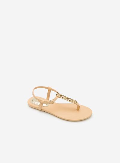 Giày Sandal Đế Bệt SDK 0277  - Màu Be - VASCARA