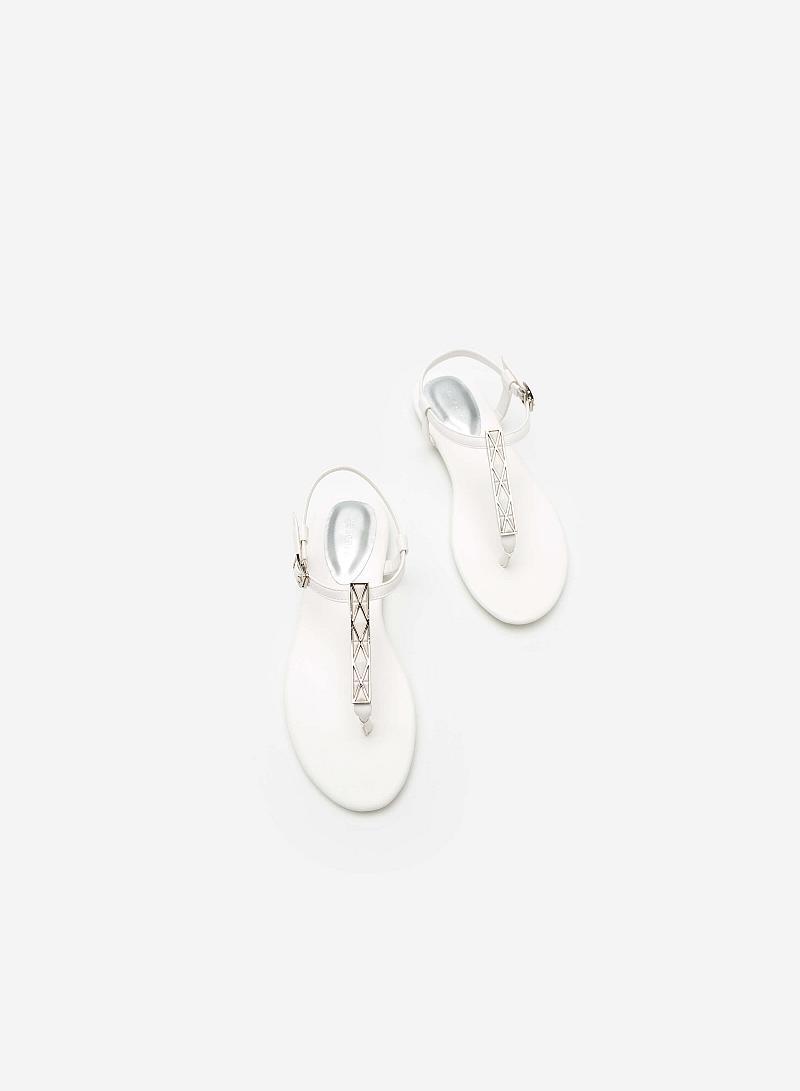 Giày Sandal Đế Bệt SDK 0277  - Màu Trắng - VASCARA