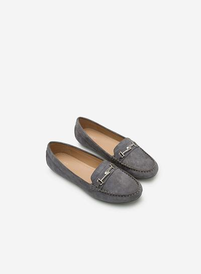 Giày lười da thật MOI 0087 - Màu Xám đậm - vascara.com