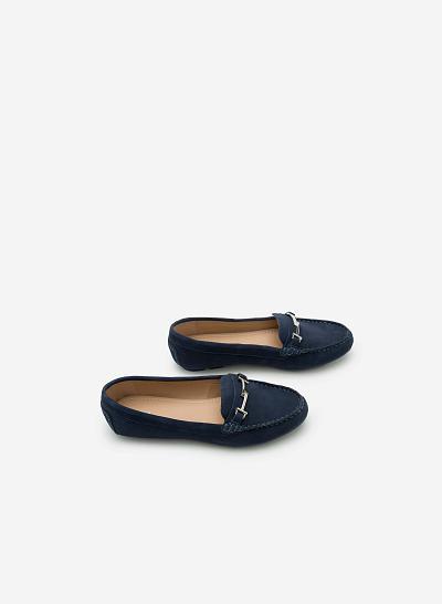 Giày lười da thật MOI 0087 - Màu Xanh dương - vascara.com