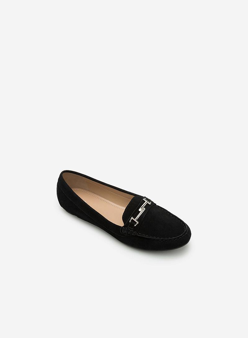 Giày lười da thật MOI 0087 - Màu Đen - vascara