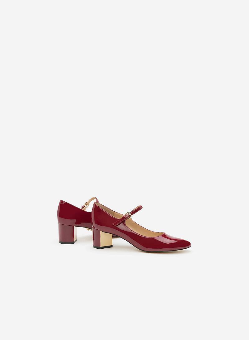 Giày bít gót vuông BMT 0445 - Màu Đỏ bầm - vascara