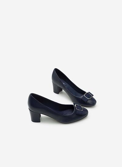 Giày bít gót vuông BMT 0438 - Màu Xanh navy - VASCARA
