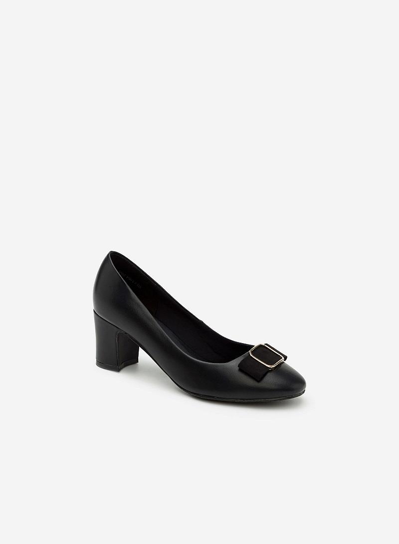 Giày bít gót vuông BMT 0438 - Màu Đen - VASCARA
