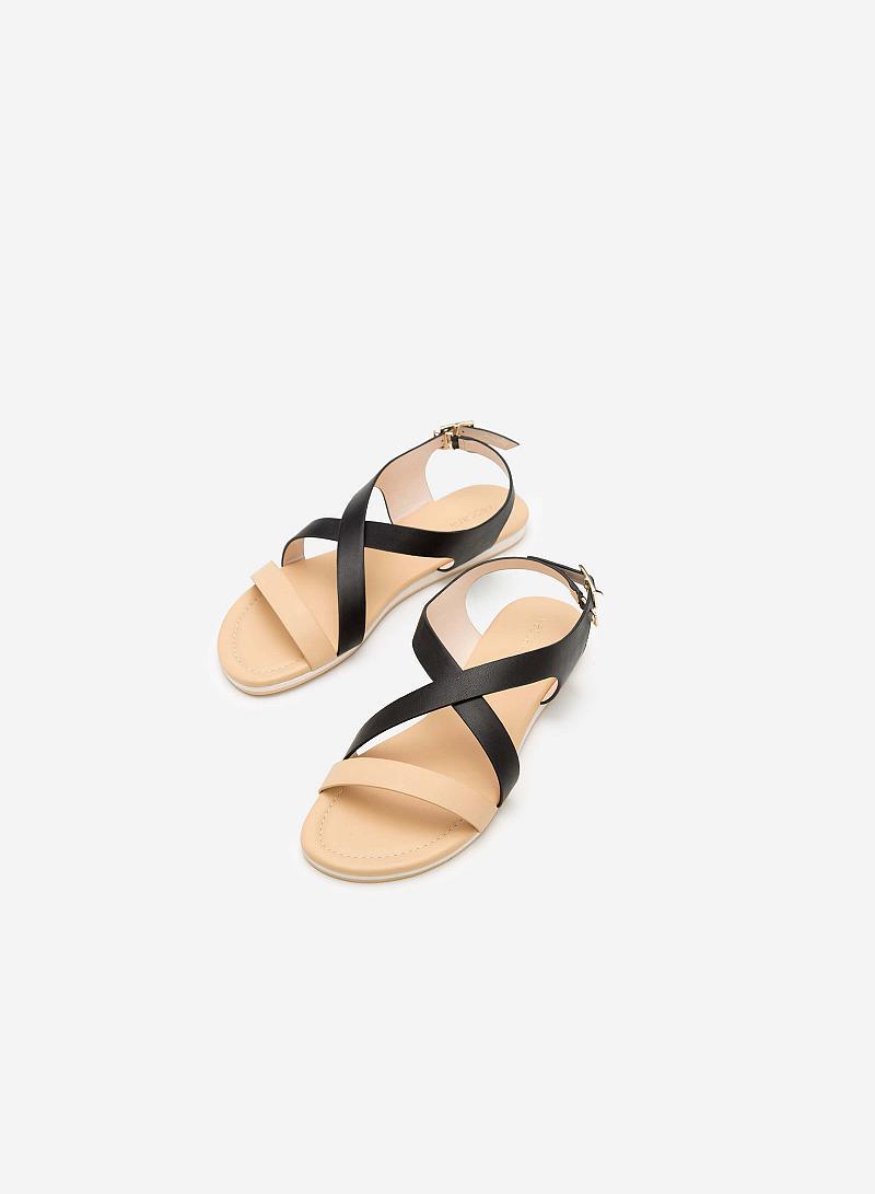 Giày sandal đế bệt SDK 0263 - Màu Be - vascara