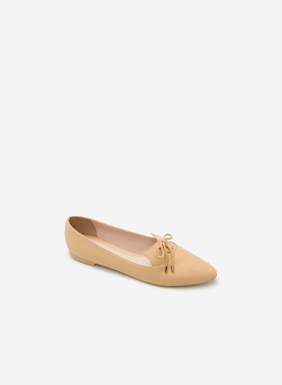 Giày lười MOI 0091 - Màu Be - vascara