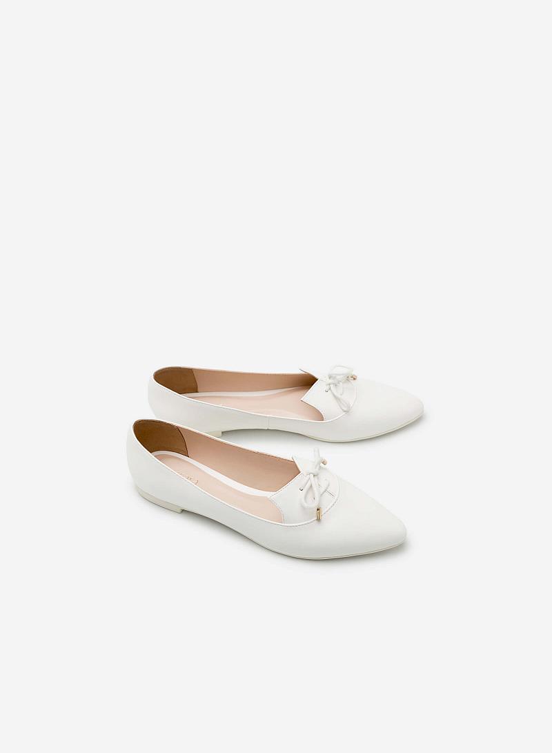 Giày lười MOI 0091 - Màu Trắng - vascara