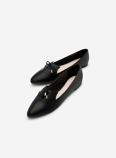 Giày lười MOI 0091 - Màu Đen