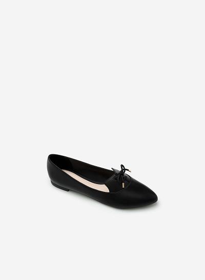 Giày lười MOI 0091 - Màu Đen - VASCARA
