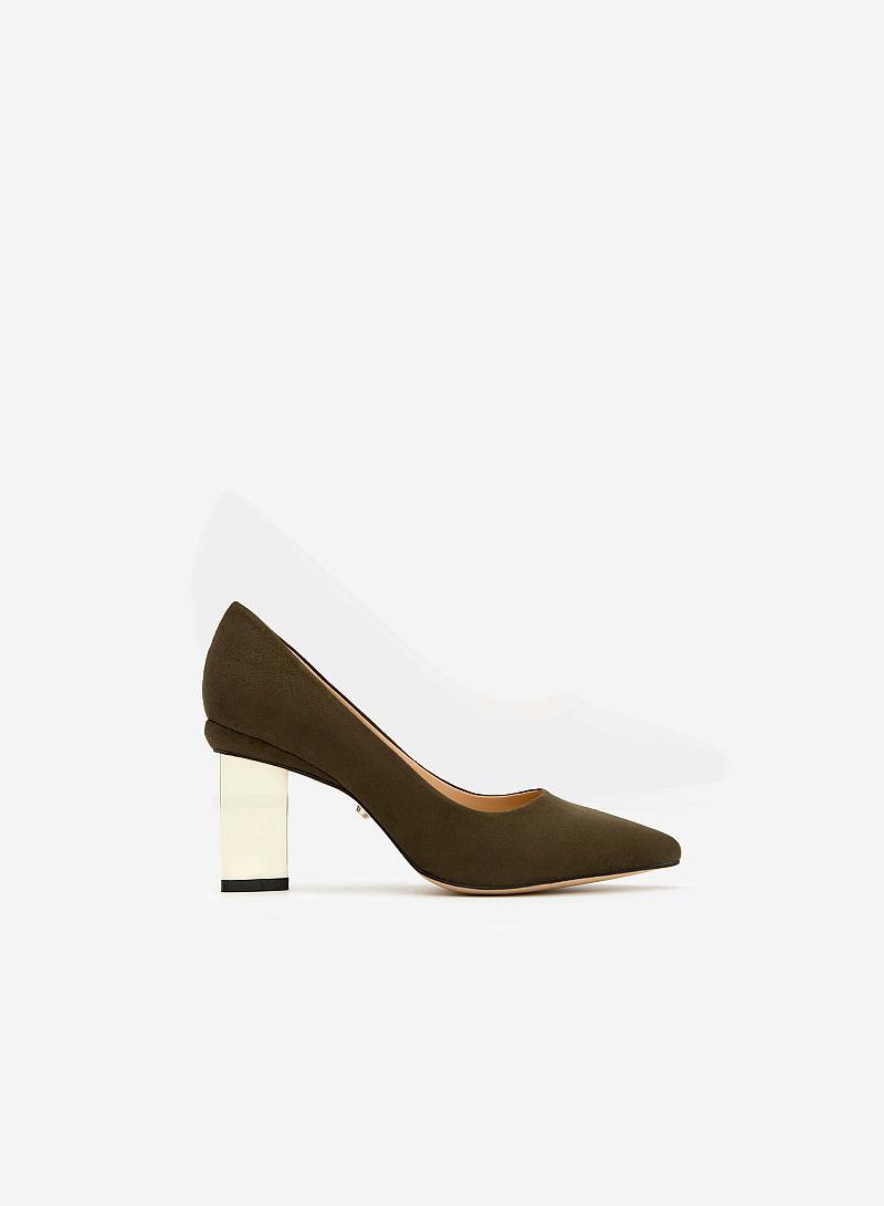 Giày cao gót BMN 0240 - Màu Xanh rêu - vascara