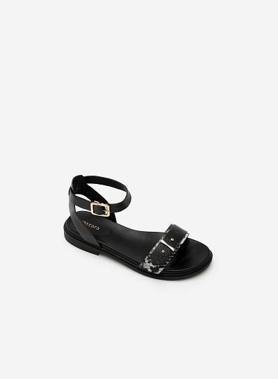 Giày sandal đế bệt SDK 0266 - Màu Đen - vascara.com