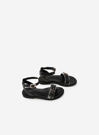 Giày sandal đế bệt SDK 0266 - Màu Đen - VASCARA
