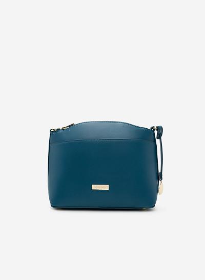 Túi đeo chéo SHO 0090 - Màu Xanh cổ vịt - VASCARA