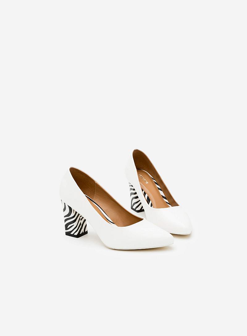 Giày Cao Gót BMN 0258 - Màu Trắng