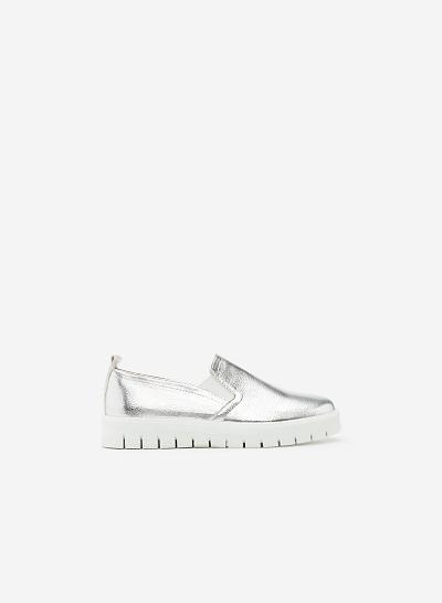 Giày Lười MOI 0090 - Màu Bạc - vascara.com