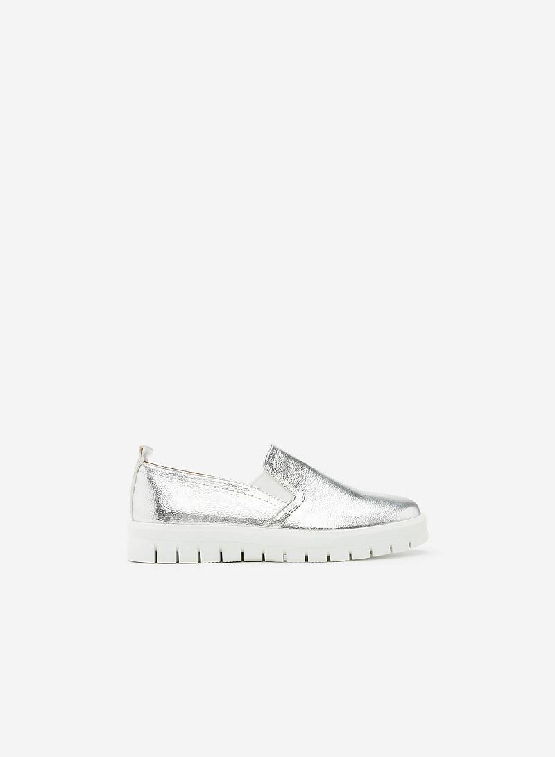 Giày Lười MOI 0090 - Màu Bạc - vascara