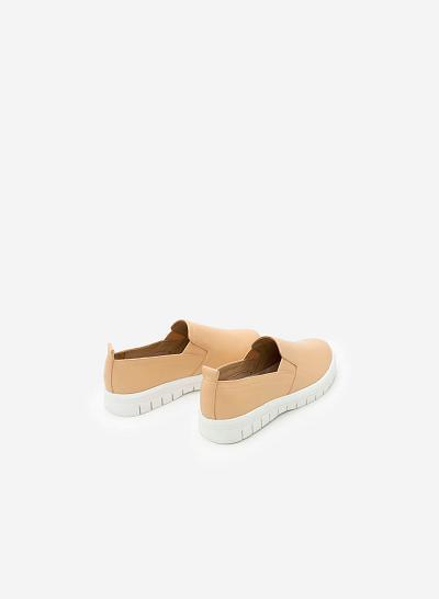 Giày Lười MOI 0090 - Màu Kem - VASCARA
