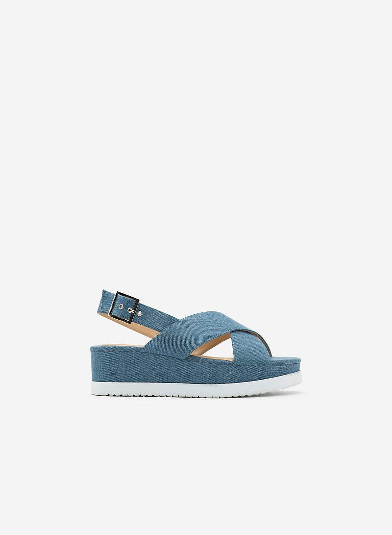Giày Sandal Đế Xuồng SDX 0389 - Màu Xanh Da Trời - vascara