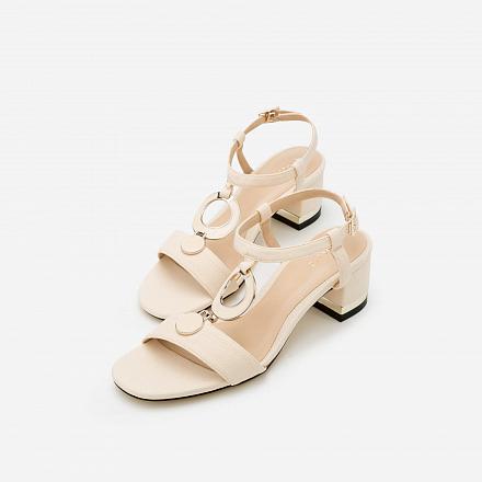 Giày Sandal Gót Vuông SDN 0566 - Màu Be