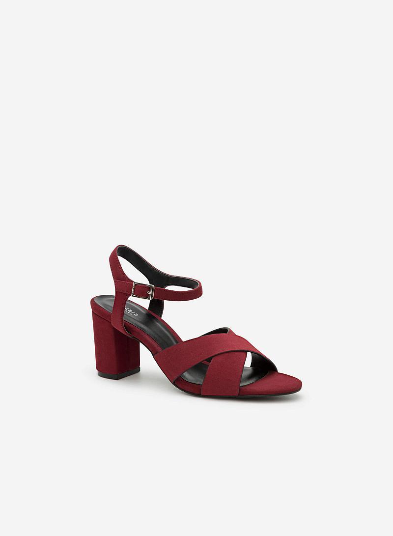 Giày Cao Gót SDN 0572 - Màu Đỏ Bầm - vascara