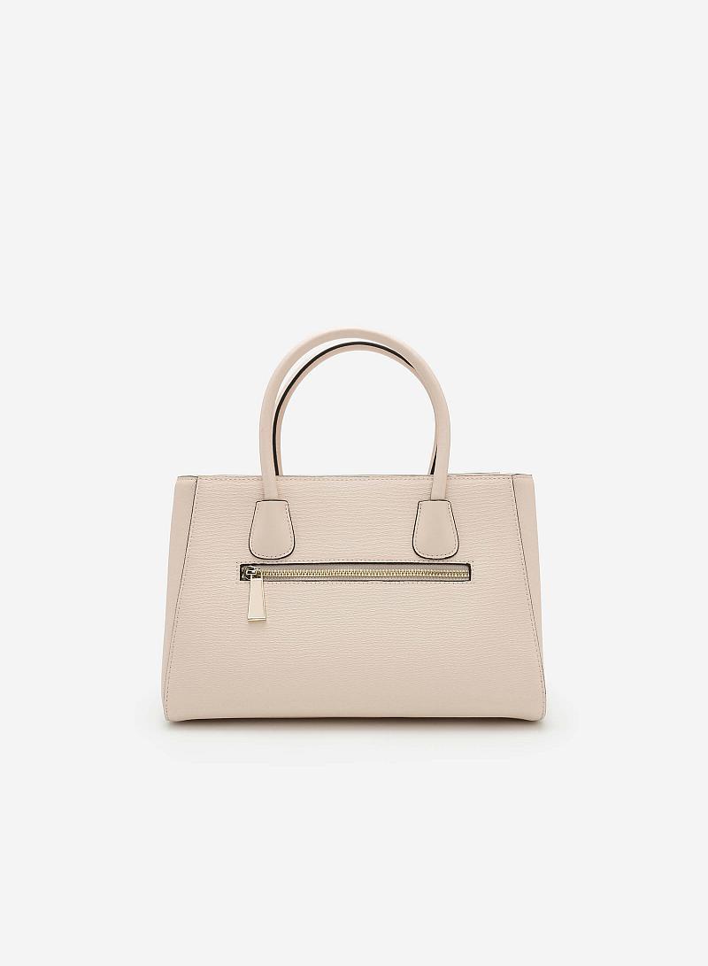 Túi xách tay SAT 0121 - Màu Be - vascara