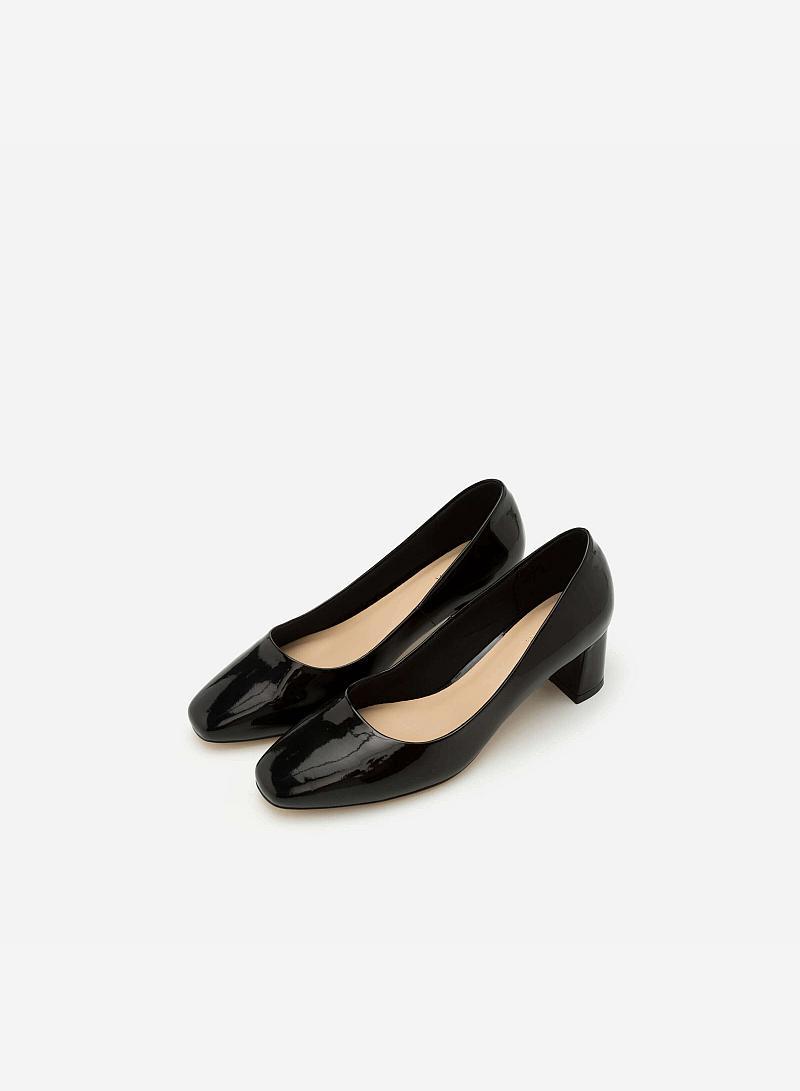Giày Bít Gót Vuông BMT 0449 - Màu Đen - vascara