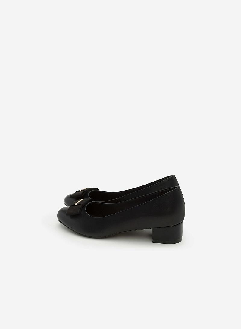 Giày Bít Gót Vuông BMT 0448 - Màu Đen - vascara
