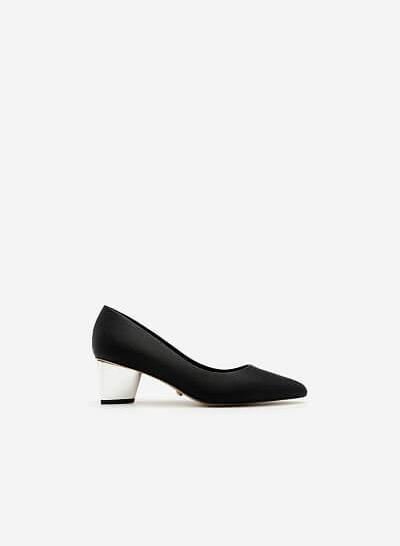 Giày Bít Gót Vuông BMN 0272 - Màu Đen