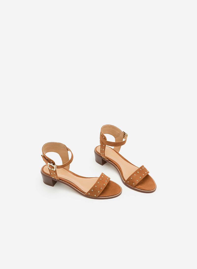 Giày Sandal Gót Vuông SDN 0588 - Màu Nâu - vascara