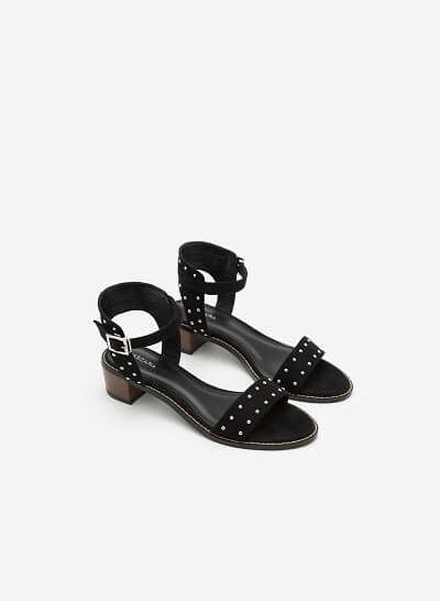 Giày Sandal Gót Vuông SDN 0588 - Màu Đen - VASCARA