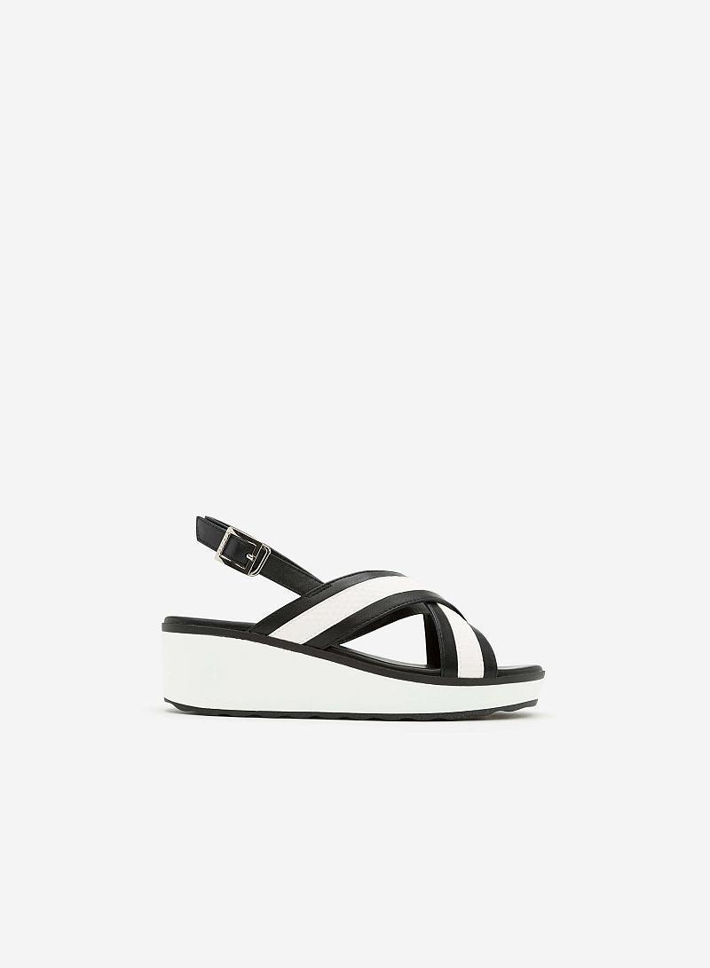 Giày Sandal Đế Xuồng SDX 0396 - Màu Đen - VASCARA