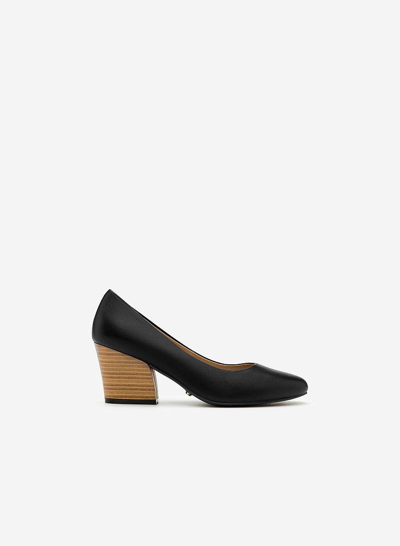 Giày Bít Gót Vuông BMT 0439 - Màu Đen - VASCARA