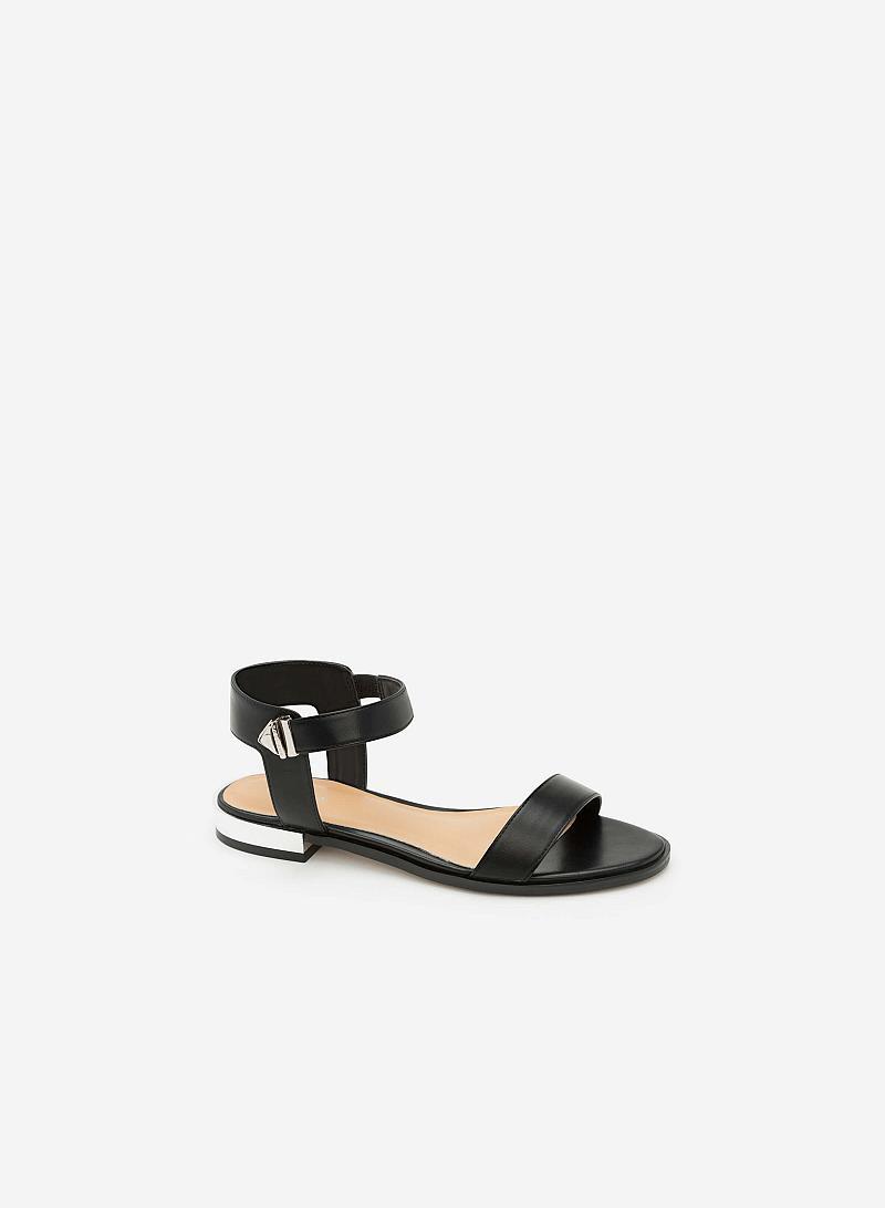 Giày Sandal Đế Bệt Quai Ngang -  Màu Đen - SDK 0280 - vascara