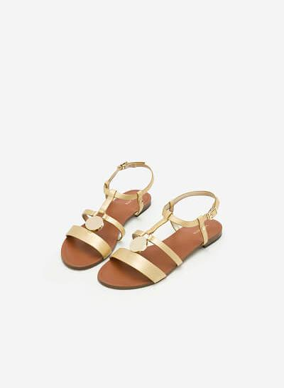 Giày Sandal Đế Bệt SDK 0273 - Màu Vàng Kim