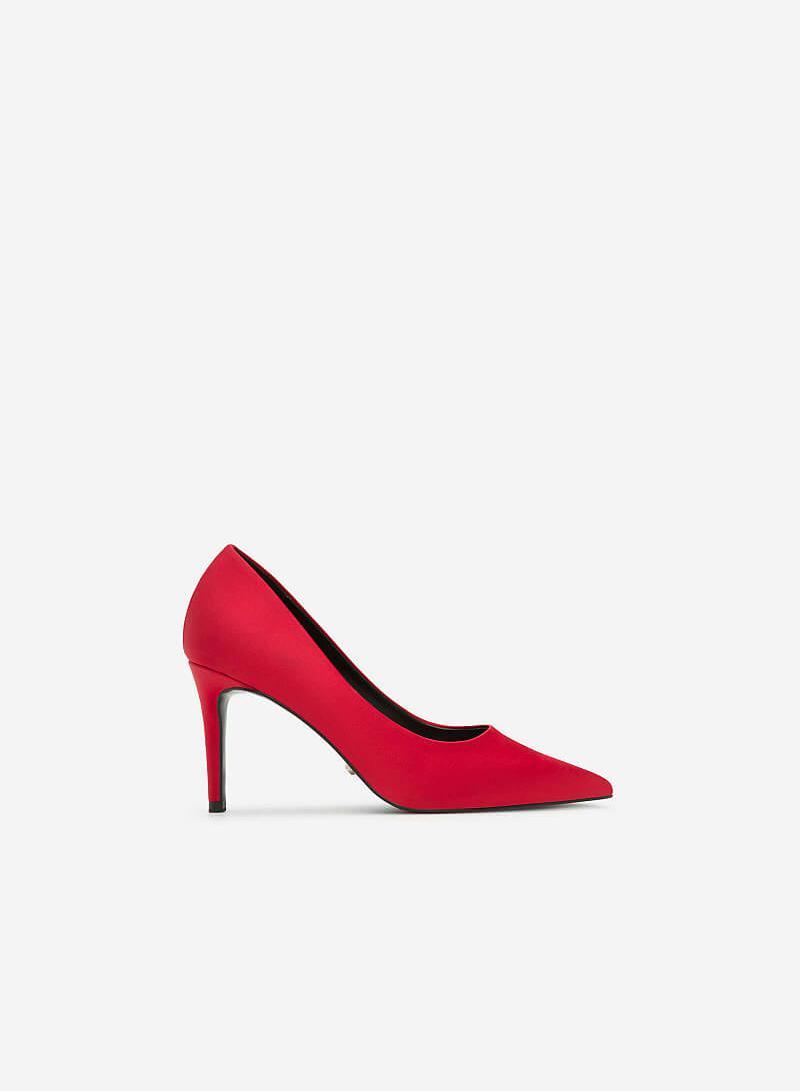 Giày Cao Gót Nhọn Bít Mũi - BMN 0312 - Màu Đỏ - vascara