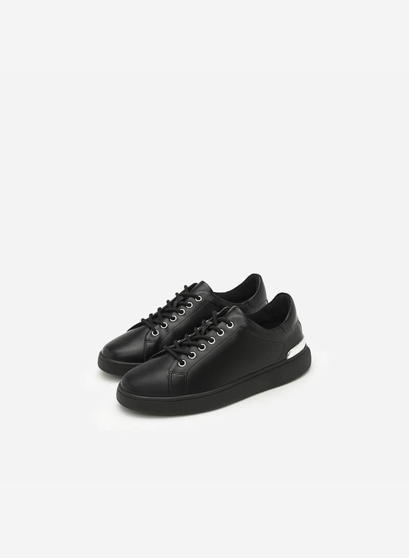 Giày Sneaker Buộc Dây - SNK 0018 - Màu Đen - vascara