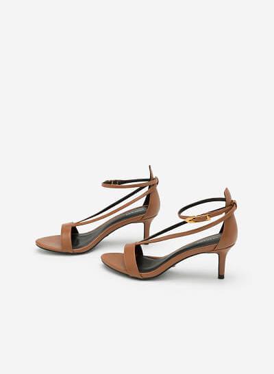 Giày Sandal Quai Chữ V Ánh Kim - SDN 0625 - Màu Nâu - VASCARA