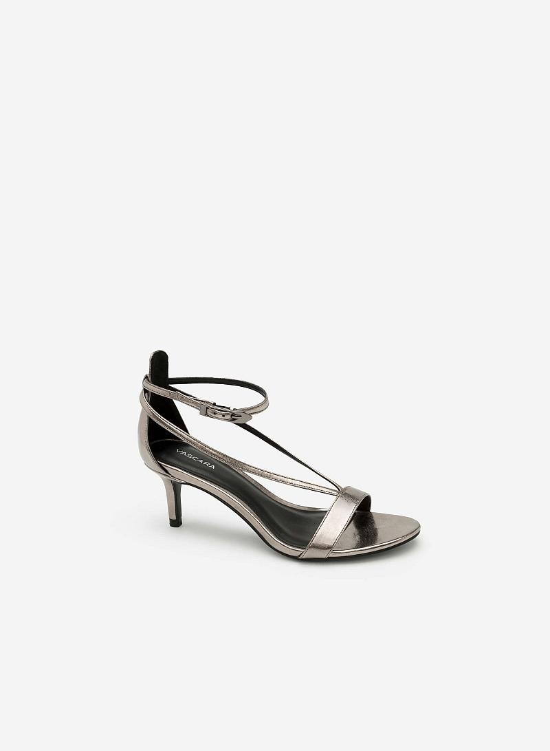 Giày Sandal Quai Chữ V Ánh Kim - SDN 0625 - Màu Xám Khói Đậm - VASCARA