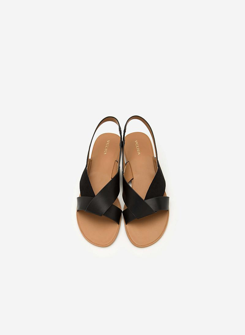 Giày Sandal Quai Đan Chéo - SDK 0289 - Màu Đen - VASCARA