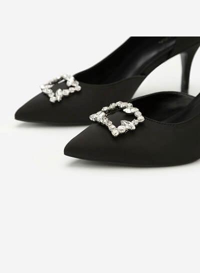 Giày Cao Gót D Orsay Đính Đá - BMN 0317 - Màu Đen - vascara