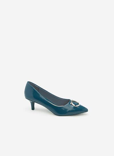 Giày Bít Gót Nhọn BMN 0256 - Màu Xanh Cổ Vịt - vascara.com