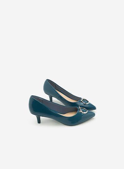 Giày Bít Gót Nhọn BMN 0256 - Màu Xanh Cổ Vịt - VASCARA
