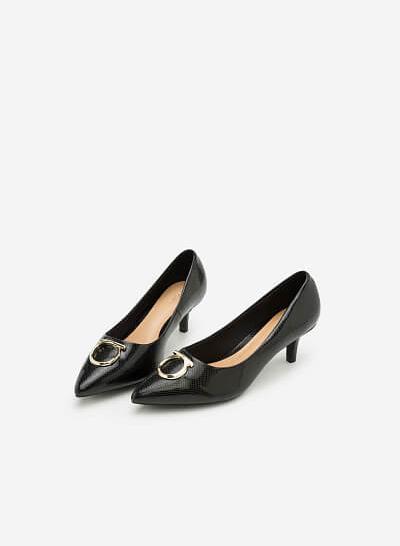 Giày Bít Gót Nhọn BMN 0256 - Màu Đen - vascara.com